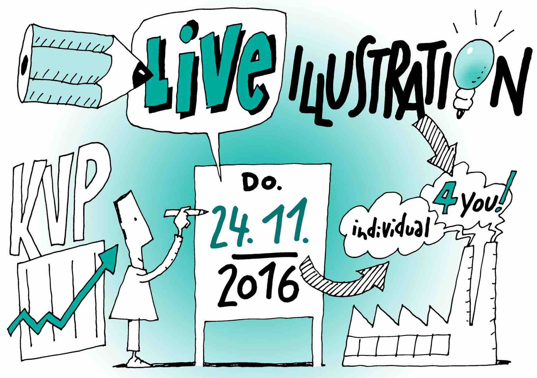 Live Illustrationen auf dem KVP Kongress