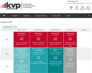 KVP Kongress 2015 Programm