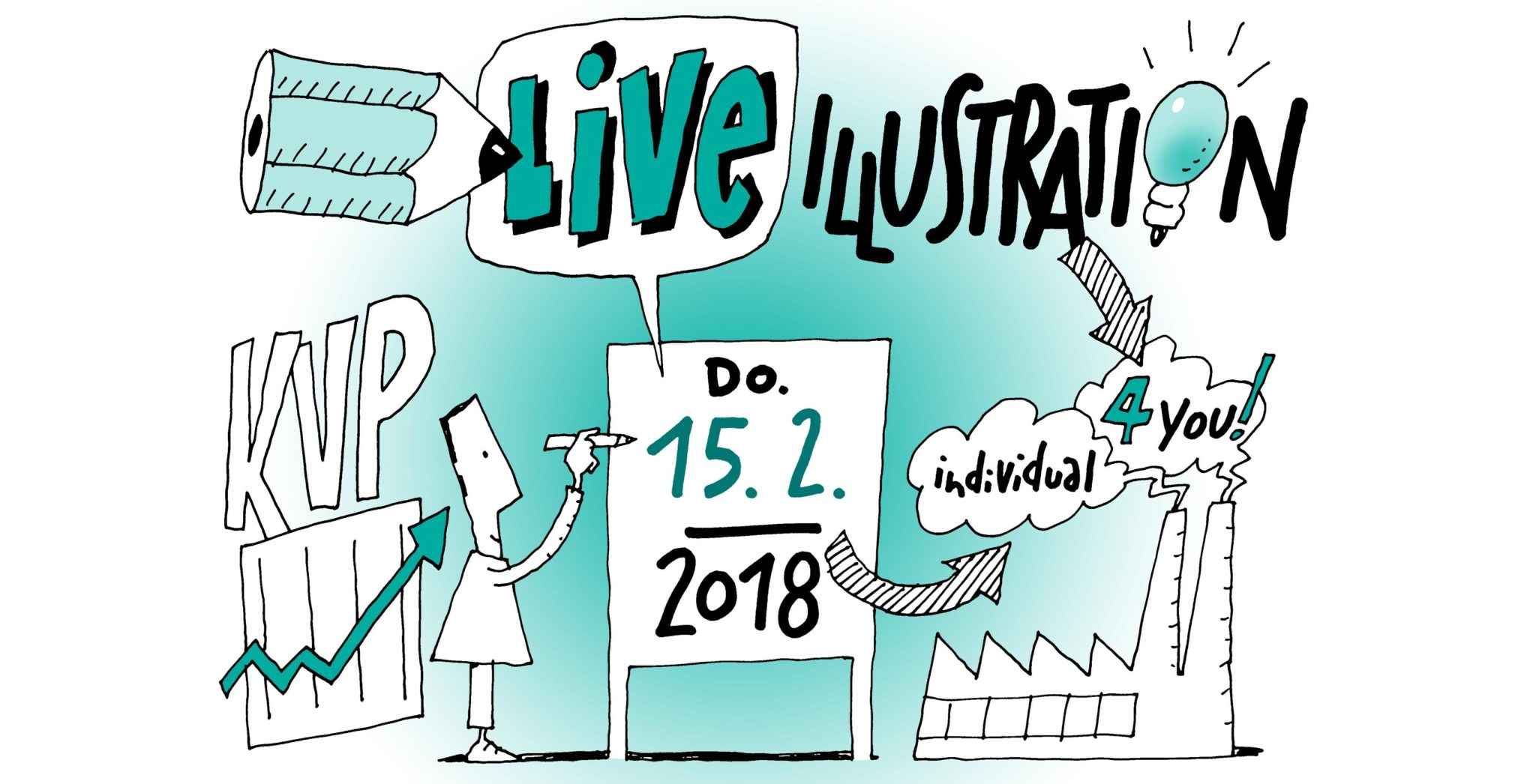Live Illustrationen auf dem KVP Kongress 2018