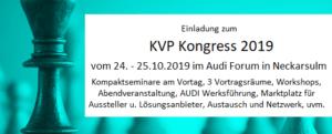 Banner Sonderveranstaltungen KVP Kongress 2019