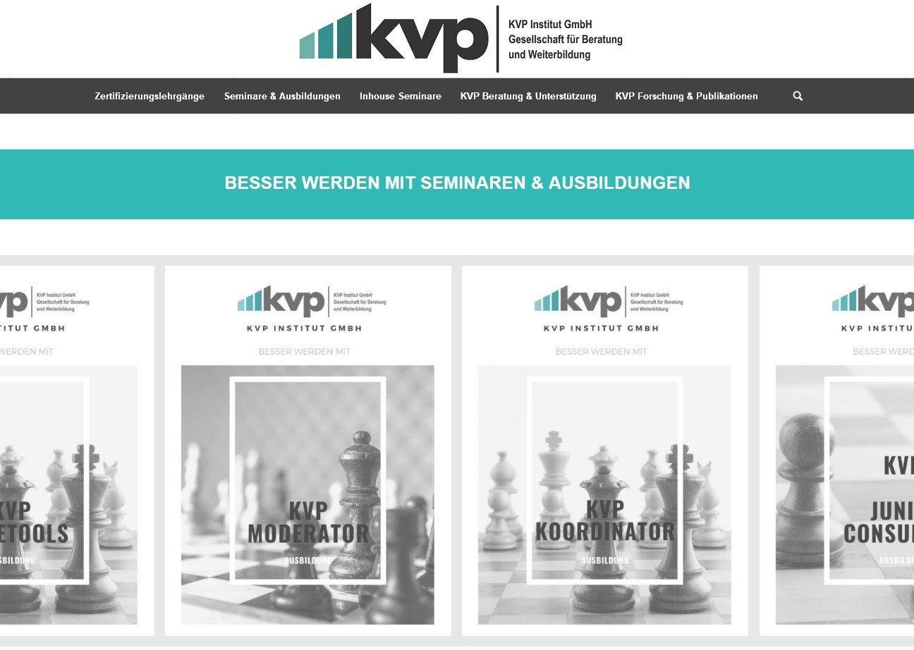 KVP Webseite in neuer Aufmachung