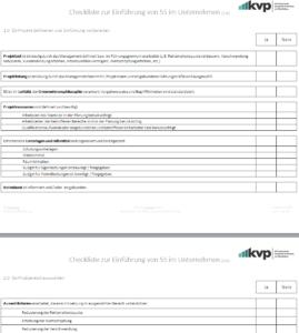 Checkliste 5S Einführung
