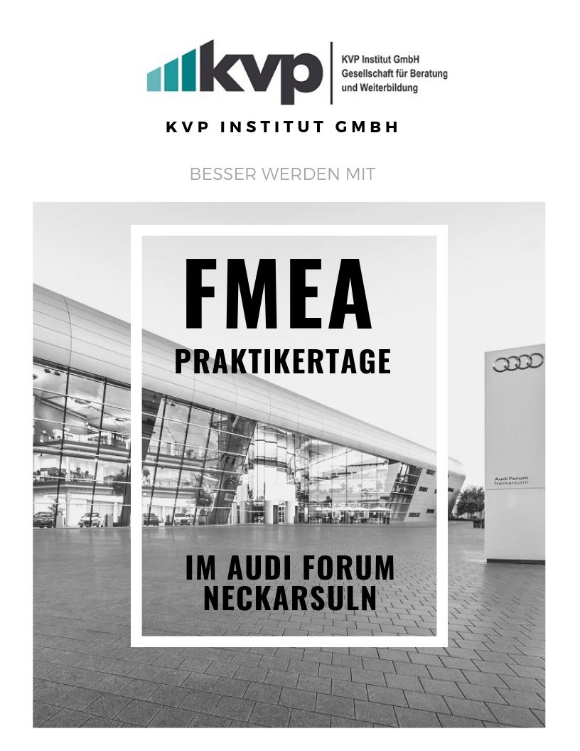 Sprechstunde bei den FMEA Praktikertagen im AUDI Forum in Neckarsulm