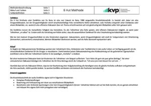 Methodenblatt 6 Hut Methode 4